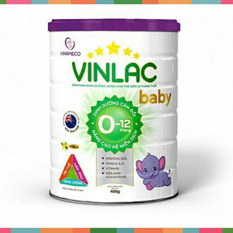 Sữa vinlac baby 400gram date 2023