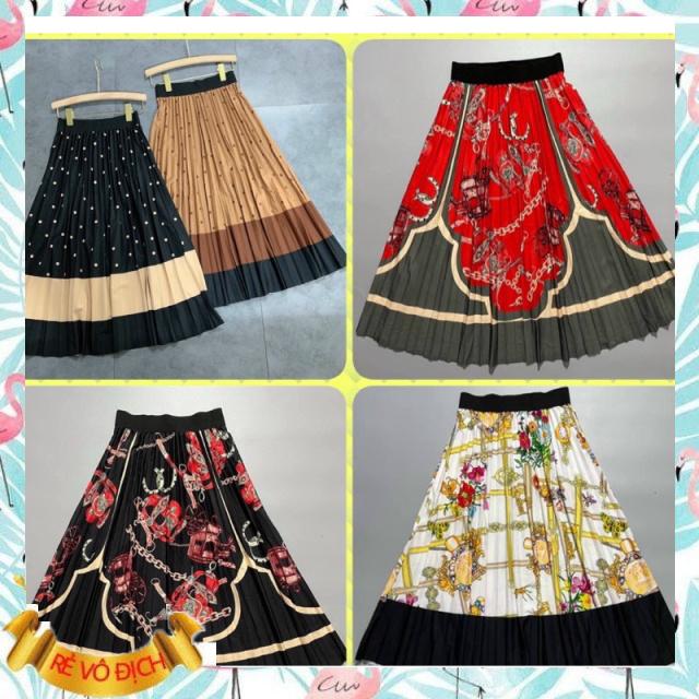 Chân váy lụa hoạ tiết sang chảnh - phong cách thời trang siêu đỉnh