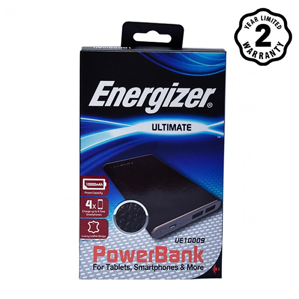 Pin sạc dự phòng Energizer 10,000mAh màu Nâu viền đồng - UE10009BR