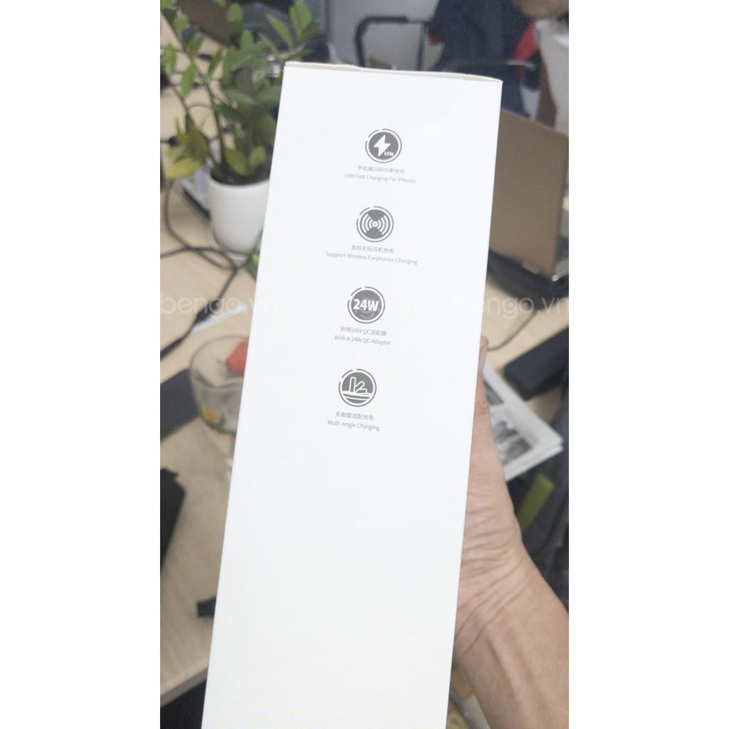 [Mã SKAMPUSHA7 giảm 8% đơn 250k]Sạc nhanh không dây tích hợp đế giữ dây sạc Apple Watch Baseus Planet 2 in 1