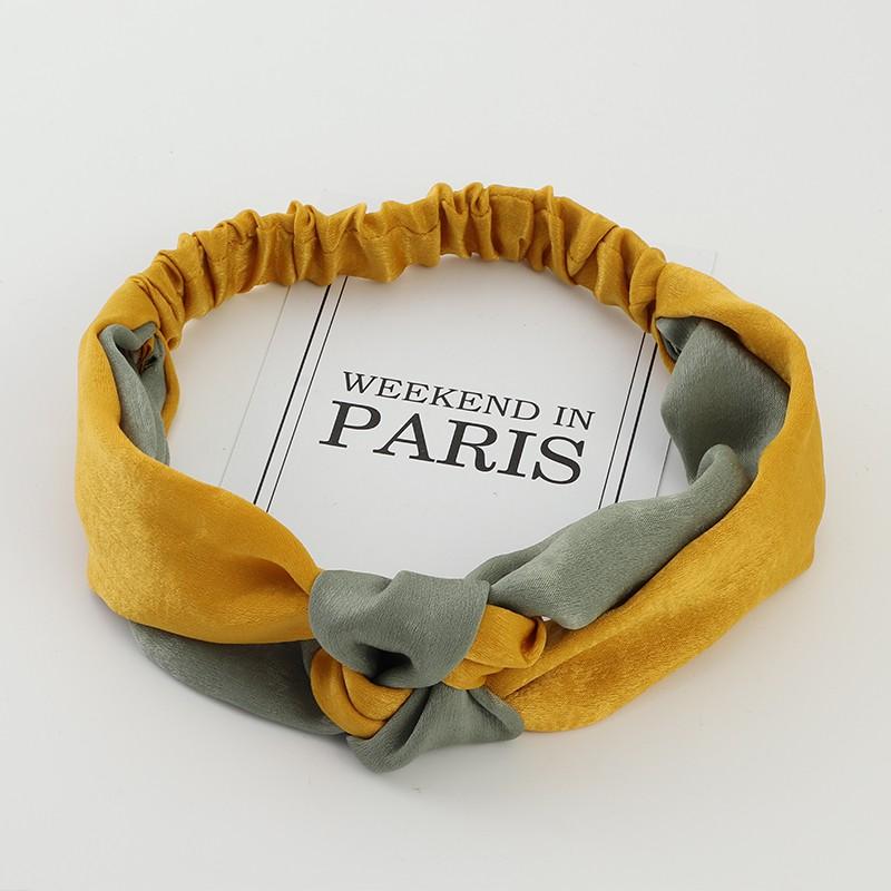 Phụ kiện tóc băng đô turban nữ thắt nút phối màu vintage thời trang hàn quốc dễ thương