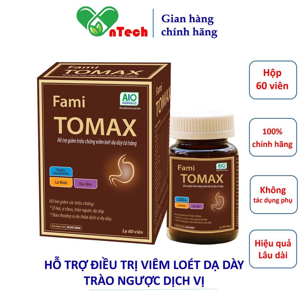 Viên uống GOLDWINGS FamiTomax hỗ trợ điều trị viêm loét dạ dày tá tràng trào ngược acid dịch vị dạ dày hộp 60 viên