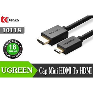 Cáp Mini HDMI Sang HDMI 3m Ugreen 10118 Hỗ Trợ 4K