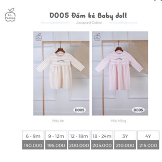 LA POMME Đầm kẻ Baby Doll