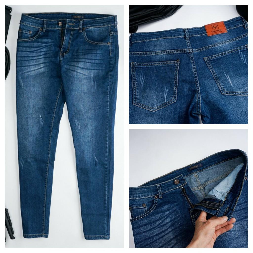 Quần bò nam dáng côn VERATINO, vải jean cao cấp vải co giãn nhẹ cực bền màu không phải, quần jean dáng côn [VNXK]