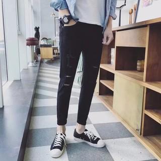 YIMUQI quần jean rách 4 vạch 101 full size