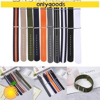 Dây Đeo Thay Thế Bằng Nylon Nhiều Màu 18 20 22mm Cho Đồng Hồ Thông Minh
