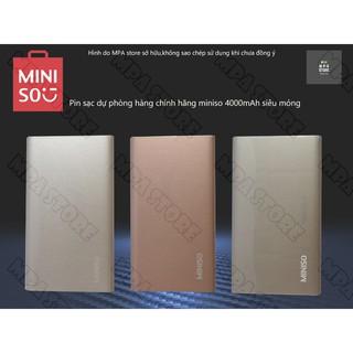 Pin Sạc dự phòng MINISO C6 4000mAh hàng chính hãng