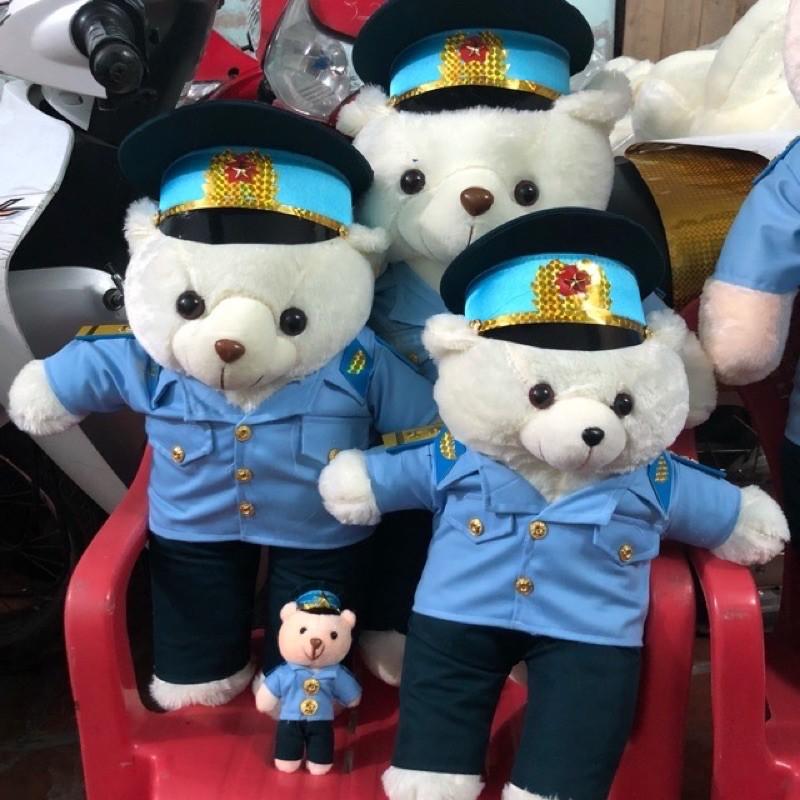 gấu bông bộ đội không quân ( in tên)