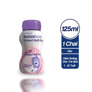 Sữa Nước Nutrinidrink Vị Dâu 1 Lốc 4 Chai 125ml