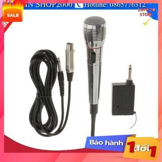✔️ Mic hát karaoke không dây,Mic không dây kết hợp có dây  - Bảo hành 1 đổi 1