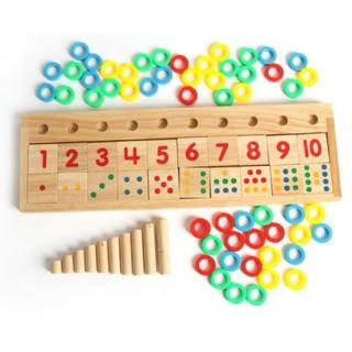 Bộ toán học đa năng xếp cọc học toán