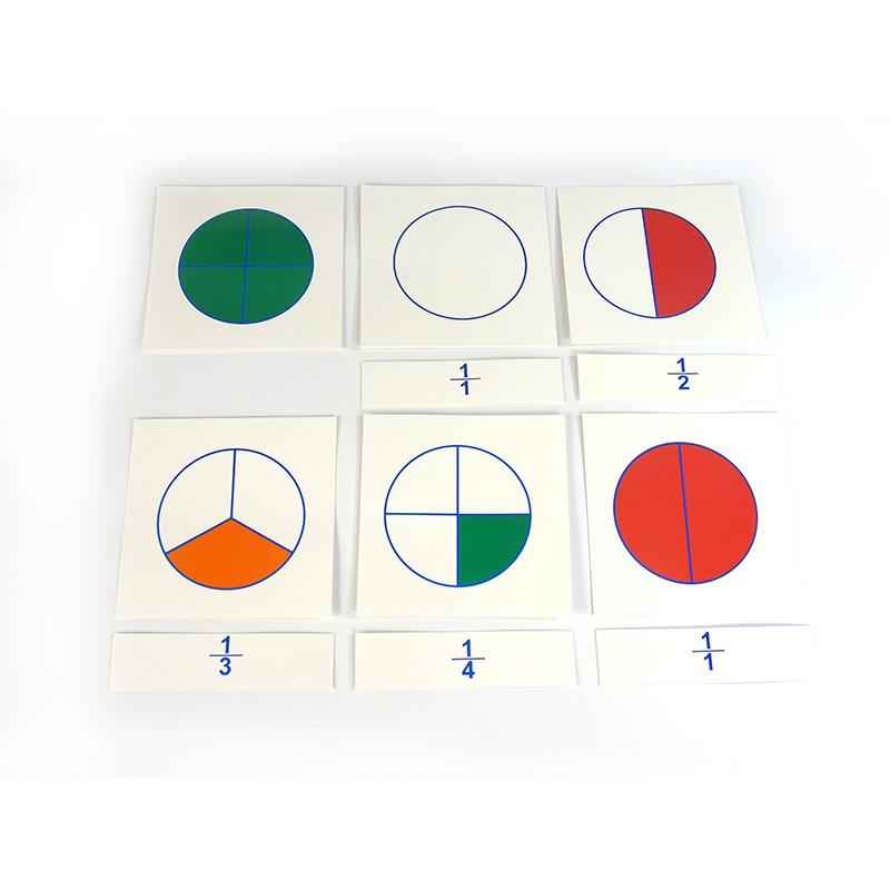 Thẻ học phân số Montessori (Cards for Large Fraction Skittles)