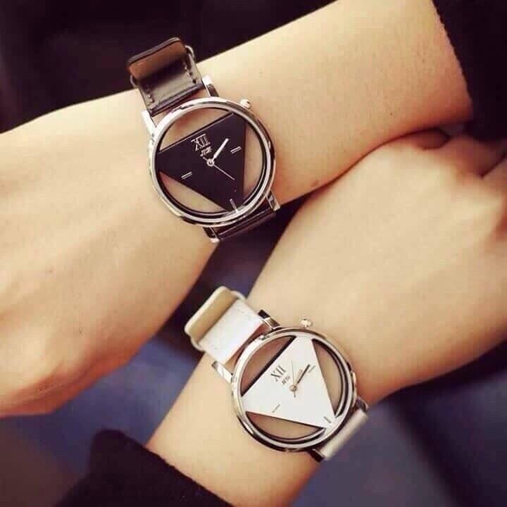 Đồng hồ nam nữ wilon mặt tam giác phong cách