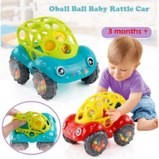Baby Hand Rattle Toy Baby Ball Bell Bendy Car Clawing Toy