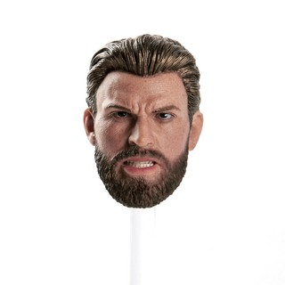 1:6 Captain America Head Male Avengers Angry Face Model For 12in. Action Figure