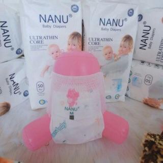 (Dùng thử) Tã quần Nanu baby Nhật Bản size M12/L12/XL12/XXL12/XXXL12