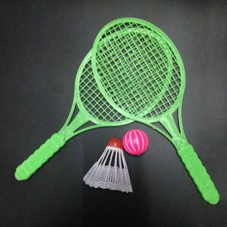 Badminton Table Tennis Set Family Game Children Boys Plastic Toy Rackets