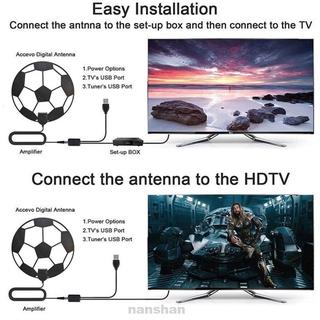 Adhesive Accessories Small Multi-directional DVB-T2 Football Shape Indoor HDTV TV Antenna