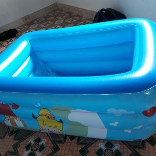 Bể phao tắm 1.5m tặng kèm bơm điện