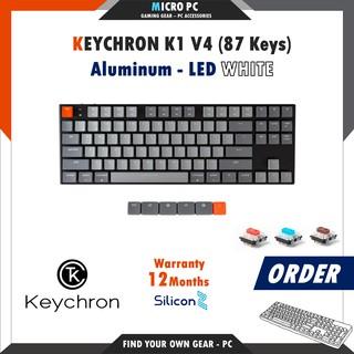 [ORDER] Bàn Phím Cơ Keychron K1 (87/104 – Key) – Hàng chính hãng SiliconZ BH 12 Tháng