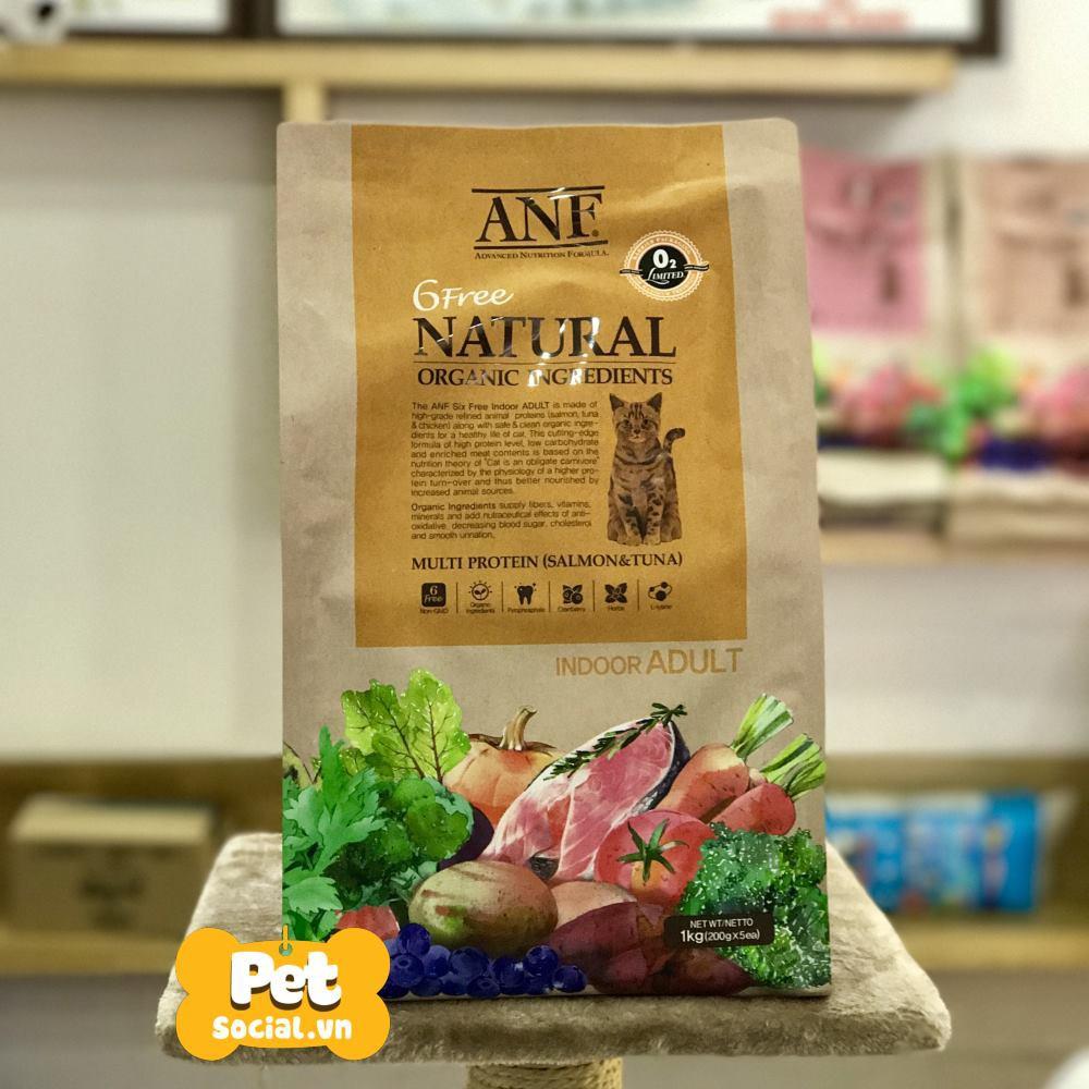 Thức Ăn Hạt Cho Mèo Trưởng Thành ANF Cat 6 Free Indoor Adult 1Kg