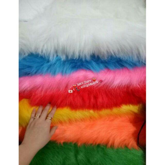 Thảm lông chụp ảnh_ thảm lông dài hồ ly cao cấp 100cm x 80cm