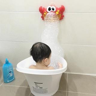 Đồ chơi tạo bong bóng hình con cua đáng yêu có nhạc thú vị cho bé