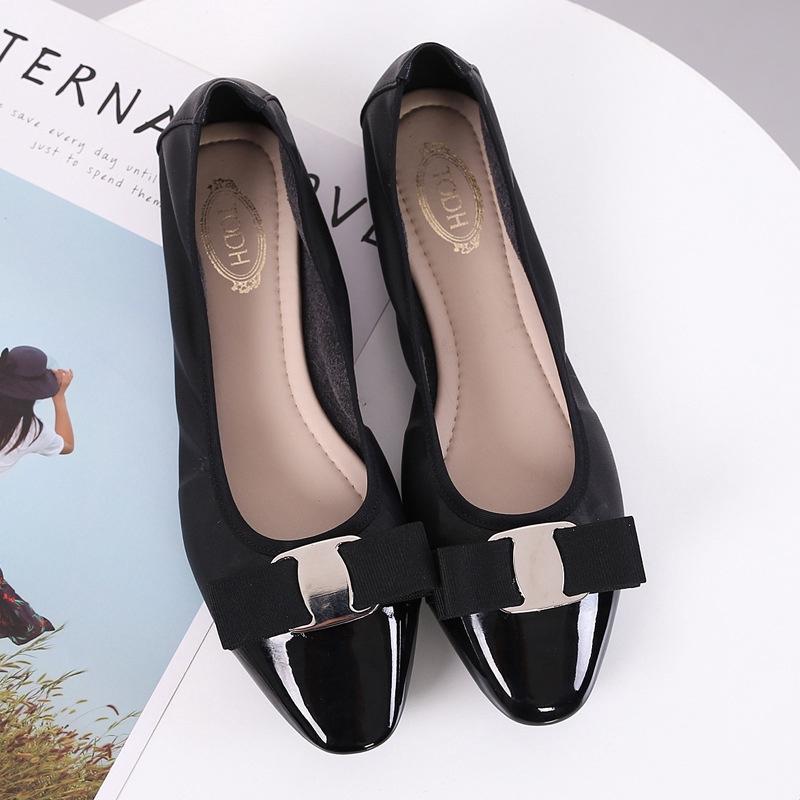 Giày búp bê mũi tròn kiểu dáng đơn giản thanh lịch dành cho nữ