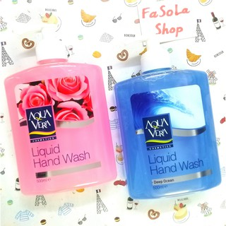 Nước rửa tay AQUA VERA Thổ Nhĩ Kỳ 500ml dung dịch rửa tay, xà phòng hồng xanh trắng tím thumbnail