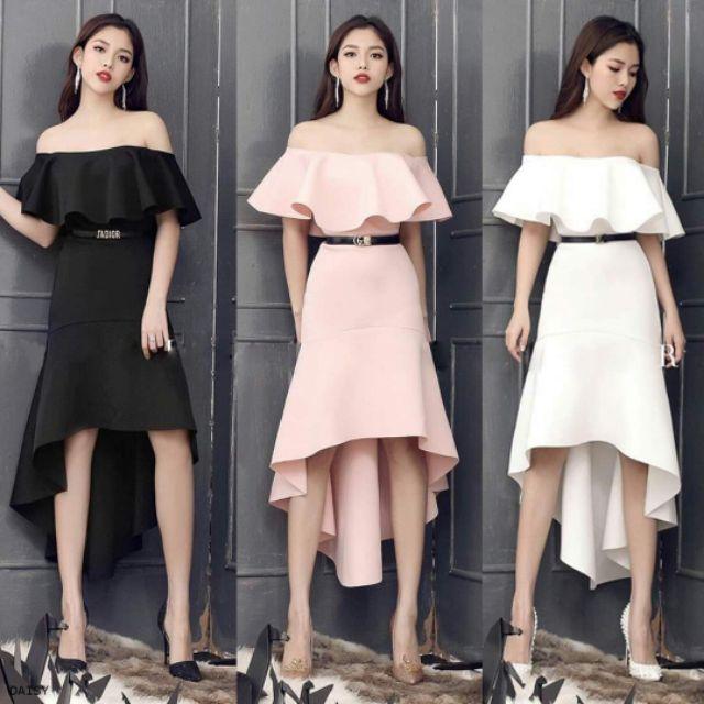 1531409156 - Hình thật - Đầm dự tiệc Daisy dress /đầm maxi trễ vai - Hàng thiết kế