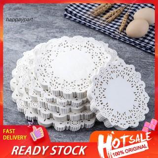 Set 100 Giấy Lót Bánh Hình Tròn Họa Tiết Ren Xinh Xắn