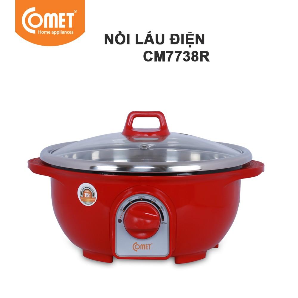 Nồi lẩu điện đa năng nhựa ABS cách nhiệt 3.5 lít Comet CM7738 - 3588912 , 1044303632 , 322_1044303632 , 554000 , Noi-lau-dien-da-nang-nhua-ABS-cach-nhiet-3.5-lit-Comet-CM7738-322_1044303632 , shopee.vn , Nồi lẩu điện đa năng nhựa ABS cách nhiệt 3.5 lít Comet CM7738