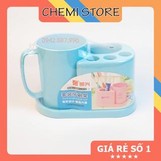 Ống để bàn chải, kem đánh răng có kèm cốc hãng Zenxin – CM2161