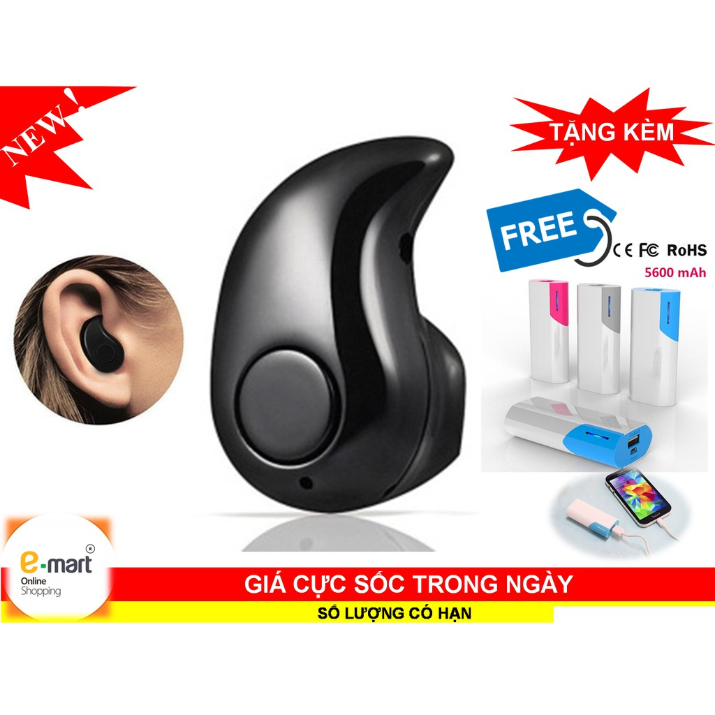 Tai nghe Bluetooth mini hạt đậu + Tặng pin sạc dự phòng xịn 5600mah - 3292556 , 552673084 , 322_552673084 , 120000 , Tai-nghe-Bluetooth-mini-hat-dau-Tang-pin-sac-du-phong-xin-5600mah-322_552673084 , shopee.vn , Tai nghe Bluetooth mini hạt đậu + Tặng pin sạc dự phòng xịn 5600mah