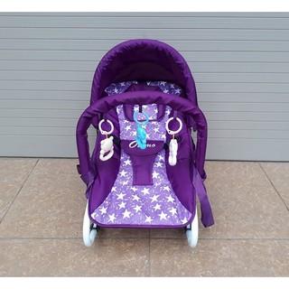 [Giá sỉ] Ghế rung Cao cấp cho bé (Có bảo hiểm, đồ chơi, mái che, điều chỉnh nằm ngồi) thumbnail