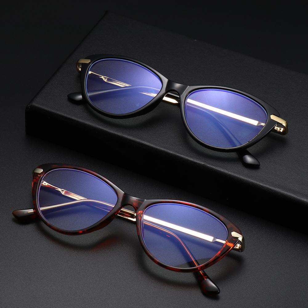 MOILY Women & Men Blue Light Blocking Glasses Reading Gaming Eyeglasses Computer Glasses Fashion Anti Eye Eyestrain Oval Frame Non-Prescription...