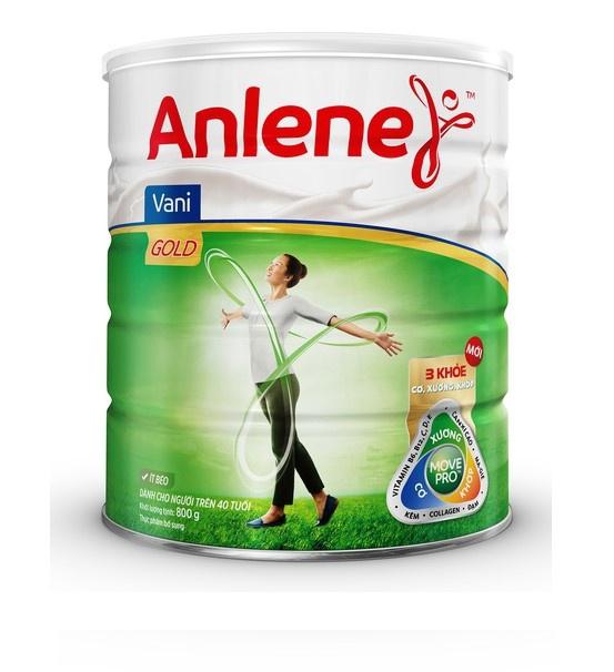 Sữa Bột Anlene Gold Movepro Hương Vanilla lon 800g (trên40 tuổi)
