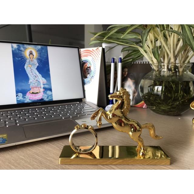 Tượng Phong Thủy Ngựa Mạ Vàng (Chiến Thần Kim Mã)