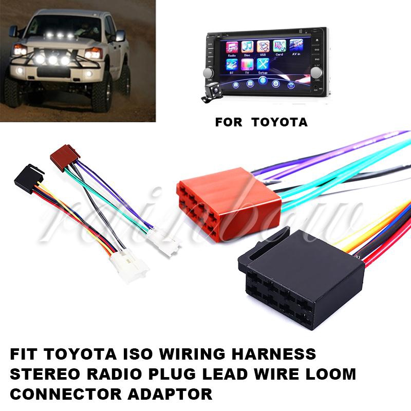 yf toyota connector adaptor line plug wire cars iso wiring harness lead wire  dedicated | shopee việt nam
