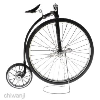 1:10 Vintage Alloy High Wheel Bicycle Diecast Model Desk Craft Replica Toy