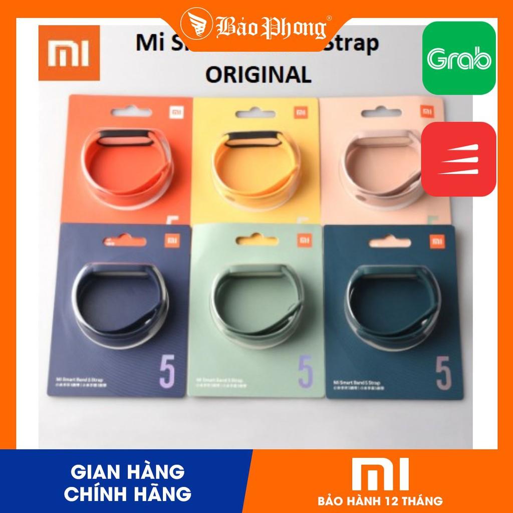 Dây đeo MiBand 5 silicon chính hãng Xiaomi Strap cho Mi Band 5