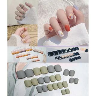 24 Bộ nail dán móng tay giả 3D Tặng Kèm Keo Dán thumbnail