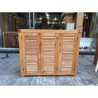Tủ giày gỗ sồi 3 cánh cửa - EUF 079 KT: 120x40x100
