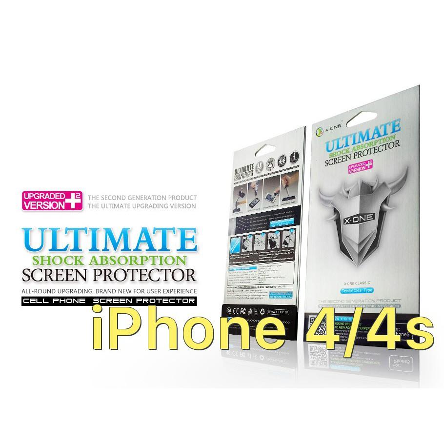 Miếng dán màn hình chịu lực hiệu X-One cho iPhone (dòng bạc) iPhone 4/4s