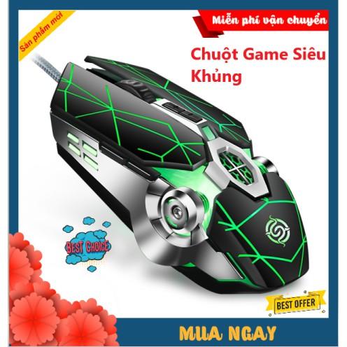 Chuột Gaming Siêu Khủng Esports Q7 Super Gaming Kiểu Dáng Siêu Độc Lạ, Led RGB Tự Đổi Màu
