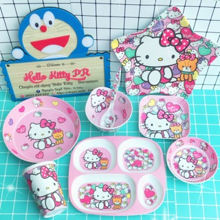 SET BÀN ĂN MELAMINE SIU CUTE HELLO KITTY