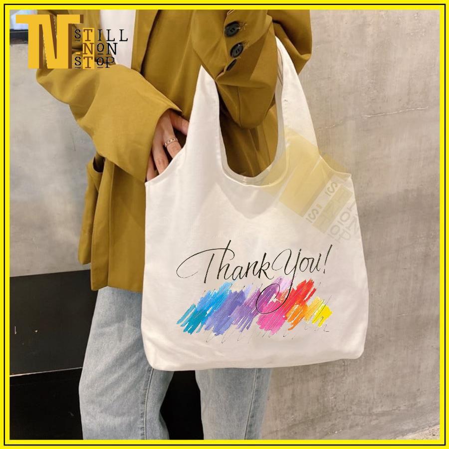 Túi đeo vai (VẢI CANVAS MỀM - QUAI LIỀN) - THANK YOU