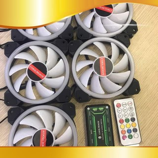 [người bán địa phương] Combo 5 Fan Led RGB Coolmoon L8+ Tặng Bộ Hub Kết Nối Nguồn Và Điều Khiển thumbnail