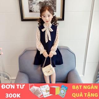 Váy Bé Gái - Váy Trẻ Em Đuôi Cá Cổ Hình Trái Tim Smartkids TE2033